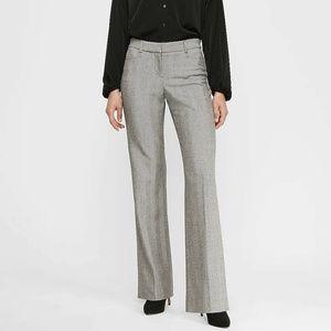 Express Herringbone Flare Trousers Editor Pants